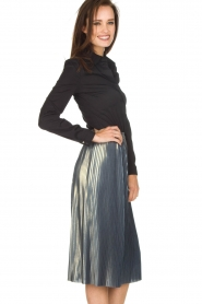 Ana Alcazar |  Metallic skirt Melody | silver  | Picture 4
