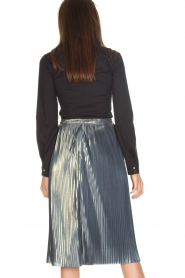 Ana Alcazar |  Metallic skirt Melody | silver  | Picture 5