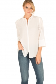 Tara Jarmon |  Silk blouse Siera | white  | Picture 2