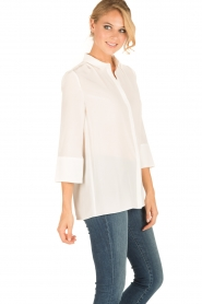 Tara Jarmon |  Silk blouse Siera | white  | Picture 4