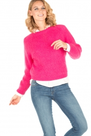 Tara Jarmon |  Knitted sweater Leah | fuchsia  | Picture 2