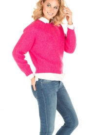 Tara Jarmon |  Knitted sweater Leah | fuchsia  | Picture 4