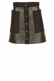 Tara Jarmon | Button-up rok Samantha | zwart  | Afbeelding 1