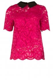 Tara Jarmon | Kanten top Louiza | roze  | Afbeelding 1