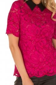 Tara Jarmon | Kanten top Louiza | roze  | Afbeelding 6