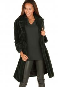 Tara Jarmon | Faux fur jas Canard | groen  | Afbeelding 2