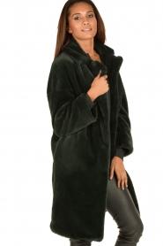 Tara Jarmon | Faux fur jas Canard | groen  | Afbeelding 4