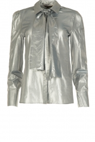 Metallic blouse Elly | zilver