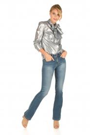 Tara Jarmon | Metallic blouse Elly | zilver  | Afbeelding 7