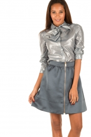Tara Jarmon | Metallic blouse Elly | zilver  | Afbeelding 2