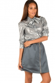 Tara Jarmon | Metallic blouse Elly | zilver  | Afbeelding 4
