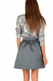 Tara Jarmon | Metallic blouse Elly | zilver  | Afbeelding 5