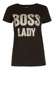 T-shirt Boss Lady | zwart