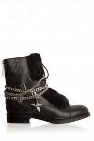 NIKKIE | Leren biker boots Delfina | zwart  | Afbeelding 1
