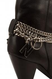 NIKKIE | Leren enkellaarzen Chain | zwart  | Afbeelding 5