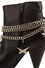 NIKKIE | Leren enkellaarzen Chain | zwart  | Afbeelding 6