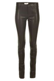 Stretch leather pants Silence | black