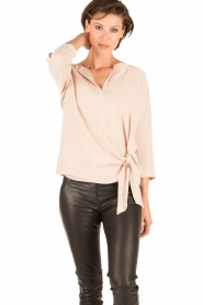 Dante 6 |  Top with knot detail Gail | nude  | Picture 2