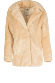 Faux fur jas Liv | naturel