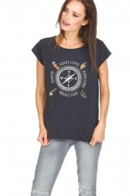 Leon & Harper | Biologisch katoenen T-shirt Taza | blauw  | Afbeelding 2