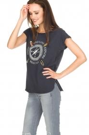 Leon & Harper | Biologisch katoenen T-shirt Taza | blauw  | Afbeelding 4