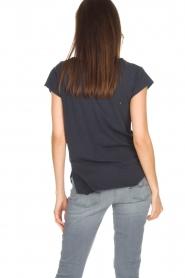 Leon & Harper | Biologisch katoenen T-shirt Taza | blauw  | Afbeelding 5