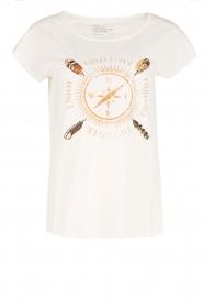 Leon & Harper | Biologisch katoenen T-shirt Taza | wit  | Afbeelding 1