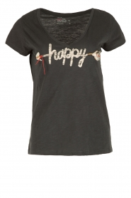 Leon & Harper |  Organic cotton T-shirt Happy | blue  | Picture 1