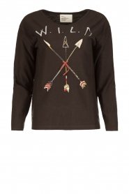 Leon & Harper |  Sweatshirt Wild | faded black  | Picture 1