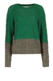 Leon & Harper | Gebreide trui Marcel | groen  | Afbeelding 1
