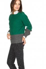 Leon & Harper | Gebreide trui Marcel | groen  | Afbeelding 4