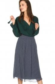 Leon & Harper |  Polkadot skirt Jamy | blue  | Picture 2