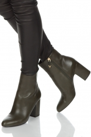 What For |  Leather ankle boot Achille | dark green  | Picture 2