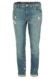 J brand |  Mid-rise boy fit jeans Johnny | peace   | Picture 1