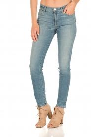 J brand   Mid-rise Skinny Leg   adventure blauw    Afbeelding 2