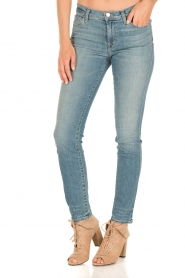 J brand | Mid-rise Skinny Leg | adventure blauw  | Afbeelding 2