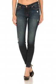 7 For All Mankind | Skinny jeans Swarovski Ripped | blauw  | Afbeelding 3