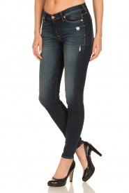 7 For All Mankind | Skinny jeans Swarovski Ripped | blauw  | Afbeelding 4