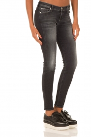 7 For All Mankind | Skinny jeans Swarovski | zwart  | Afbeelding 4