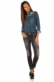 7 For All Mankind | Skinny jeans Swarovski | zwart  | Afbeelding 3
