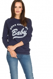 Zoe Karssen |  Sweater Don't Call Me Baby | blue  | Picture 2