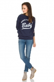 Zoe Karssen |  Sweater Don't Call Me Baby | blue  | Picture 3