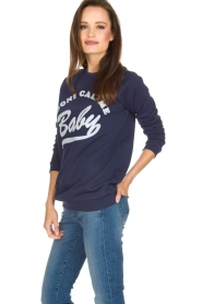 Zoe Karssen |  Sweater Don't Call Me Baby | blue  | Picture 4