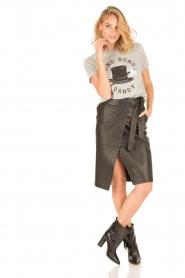 Zoe Karssen | T-shirt Ding Dong Dandy | grijs  | Afbeelding 3