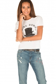 Zoe Karssen | T-shirt Ding Dong Dandy | white  | Afbeelding 2