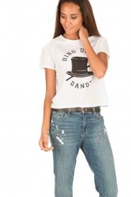 Zoe Karssen | T-shirt Ding Dong Dandy | white  | Afbeelding 4