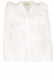 ba&sh |  Blouse with volants Dehli | white   | Picture 1