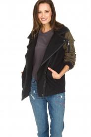 IKKS |  Biker jacket Mayce | black  | Picture 2