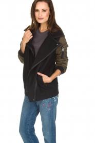 IKKS |  Biker jacket Mayce | black  | Picture 4