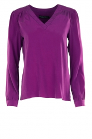 Alice & Trixie |  Silk top Rooney | purple  | Picture 1